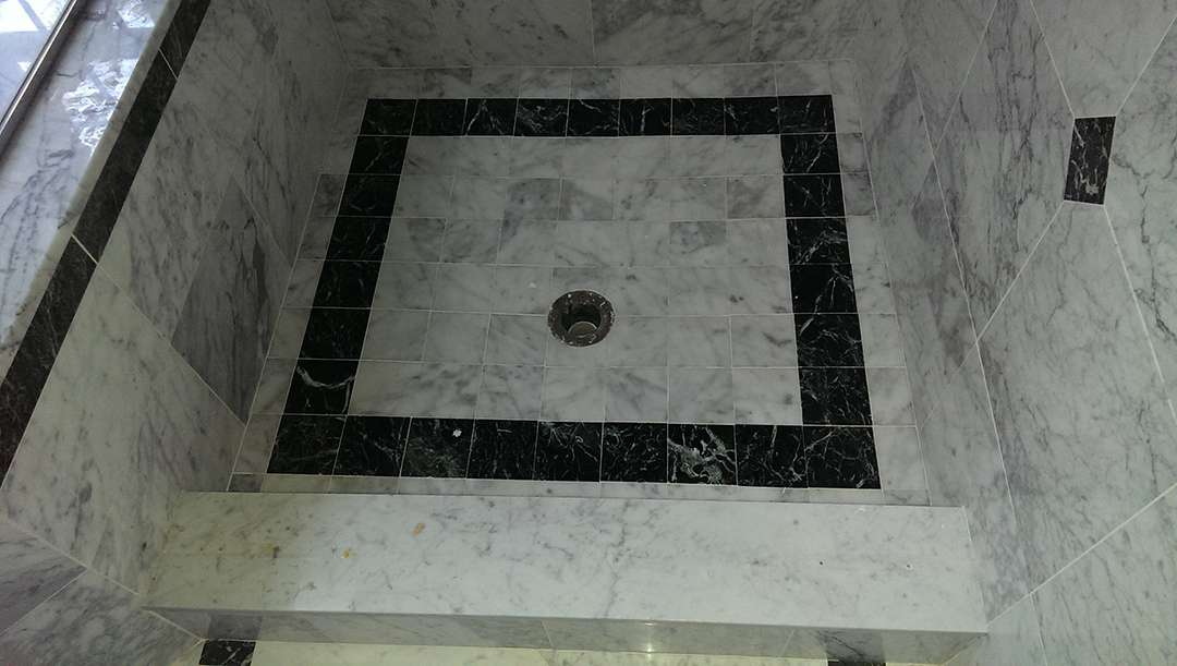 Leaky White Marble Shower Leak Repair Franklin Specialized Floor Care Services