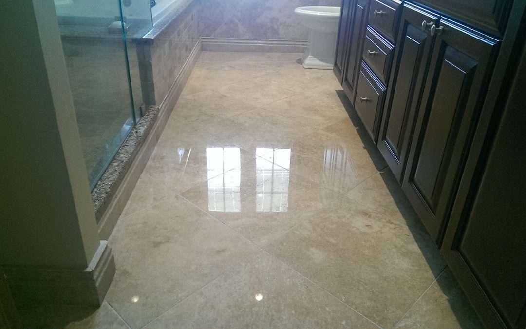 Travertine Marble Floor Refinishing RI