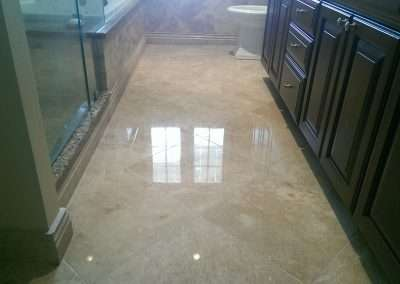 Travertine Marble Floor Refinishing RI