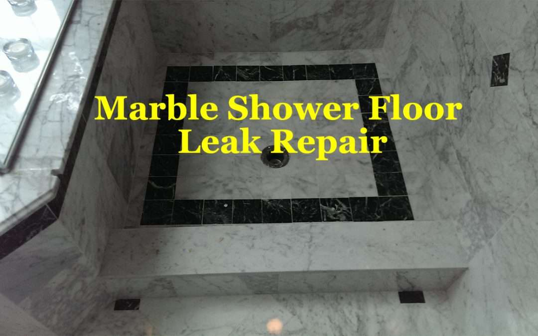 Leaky White Marble Shower Leak Repair Franklin, MA