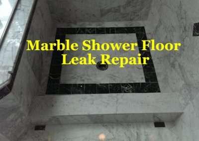 Leaky White Marble Shower Leak Repair
