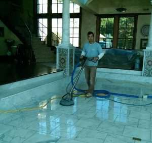 marble floor cleaning and polishing